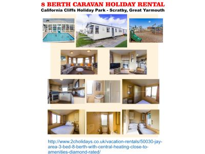 3 Bedroom Caravan to Rent at California Cliffs