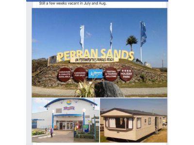 6 Berth Caravan To Rent Perrran Sands Cornwall