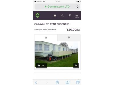 8 Berth Caravan For Rent North Shore, East England