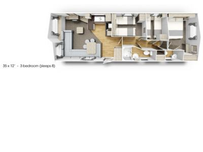 3 bedroom caravan to rent Pendine Sands South Wales Parkdean