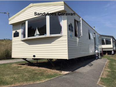 8 Berth Caravan for hire Devon Cliffs, Devon